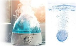 Water-Softener-Tablets in Humidifier